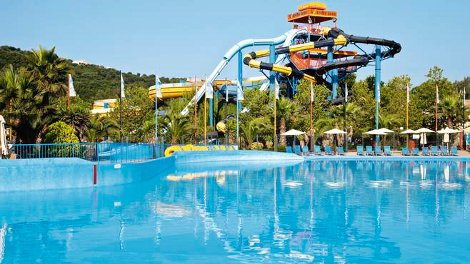 The water park at Aqualand Village, Corfu