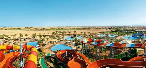 Some of the water slides at Jaz Makadi Aquaviva