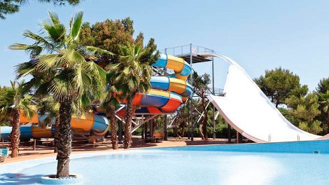 The water park at Marina Parc Hotel, Menorca