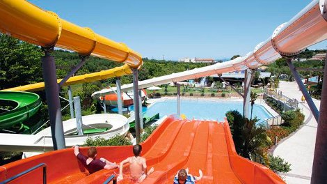 The water park at Planos Bay on Zante