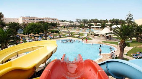 Water slides at Venus Beach
