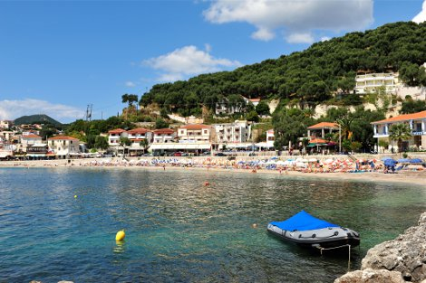 One of the beaches at Parga