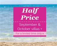 Book a James Villas 2015 villa in the half-price sale