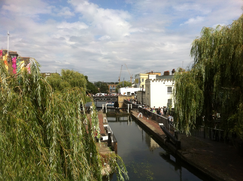 Regents canal and tow path past Camden Lock