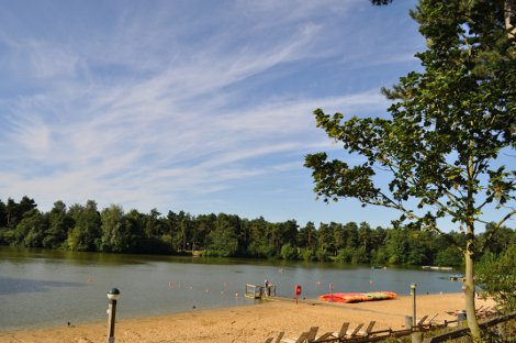 The lake at Center Parcs Elveden Forest