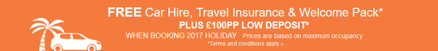 Book your 2017 James Villas holiday for £100 deposit