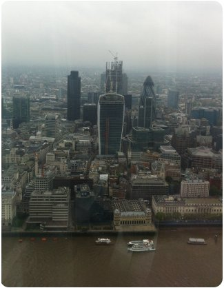View of the city from The Shard in London