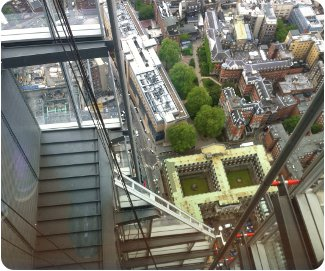 Straight down from The Shard in London