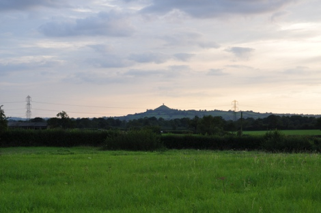 View of Glastonbury Tor from Spindlewood Lodge