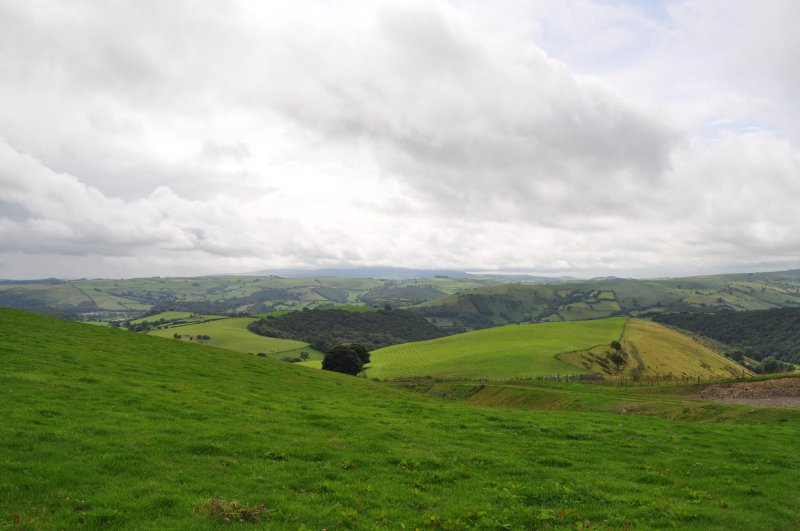 Offas Dyke - above Blackhall Lodges in Shropshire