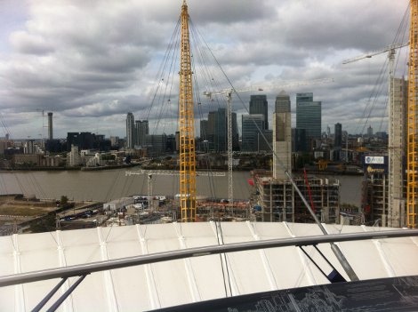 View from the Walk over the O2 Arena
