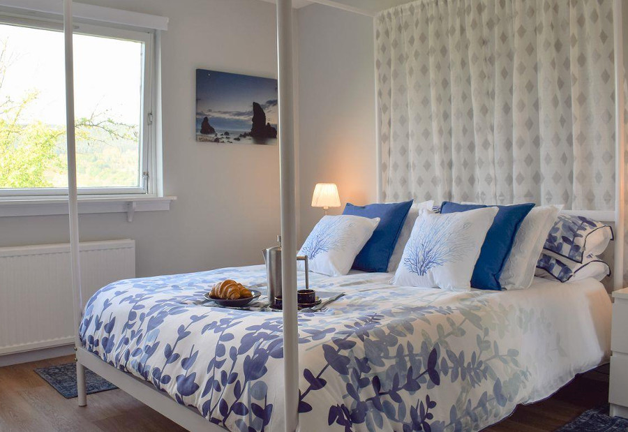 One of the three bedrooms at Afton in Perthshire