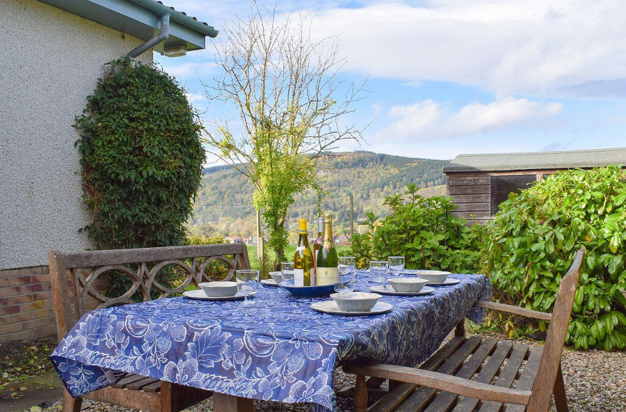 Afton has an enclosed garden with views over Perthshire