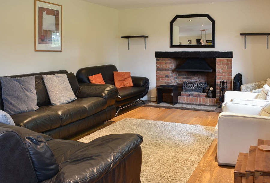 Ashdene Cottage has an open fire in the living room