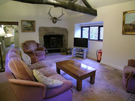 The living room at Bank Bottom Cottage near Haworth