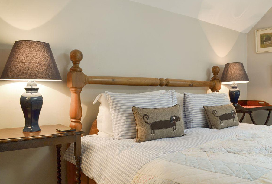 One of the three bedrooms at Bankside Cottage in Ashbourne