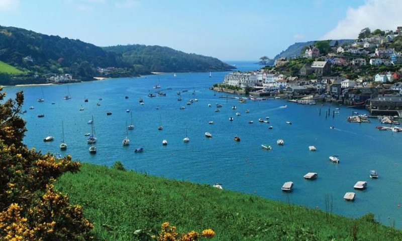 The harbour at Salcombe in Devon, just down the road from Batson House