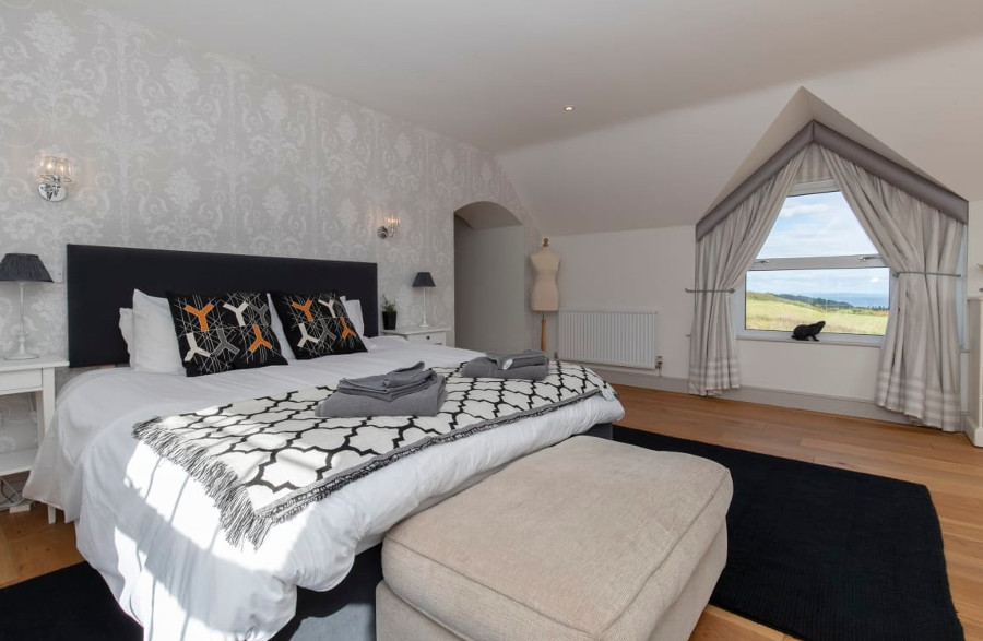 One of the four bedrooms at Bay View House in Bay View House, Saundersfoot