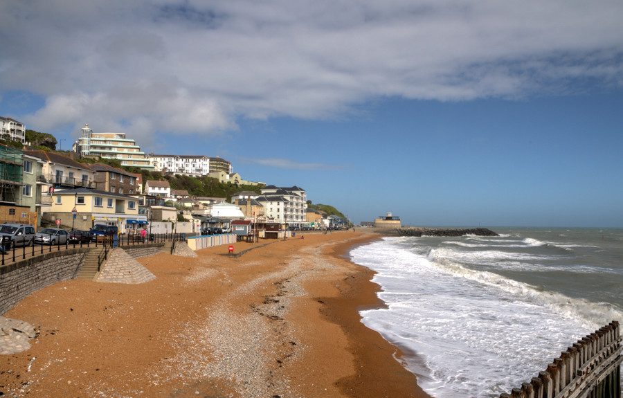 Ventnor is a mile from Myrtle Cottage, and has a lovely beach!