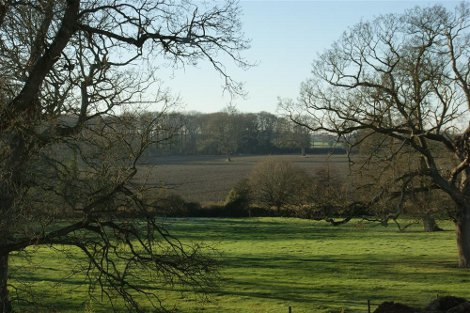 The views at Bessingham Manor in Norfolk