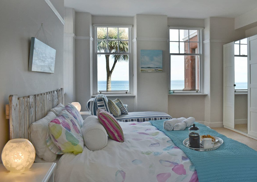 One of the nine bedrooms at Big Beach House on the Isle Of Arran