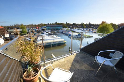 Take in those views over the Broads from Bosuns Cottage