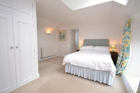 One of the bedrooms at Bridge Park Cottage in Kingsbridge