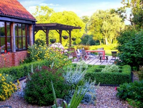 Relax in the garden at Burnt Hill House