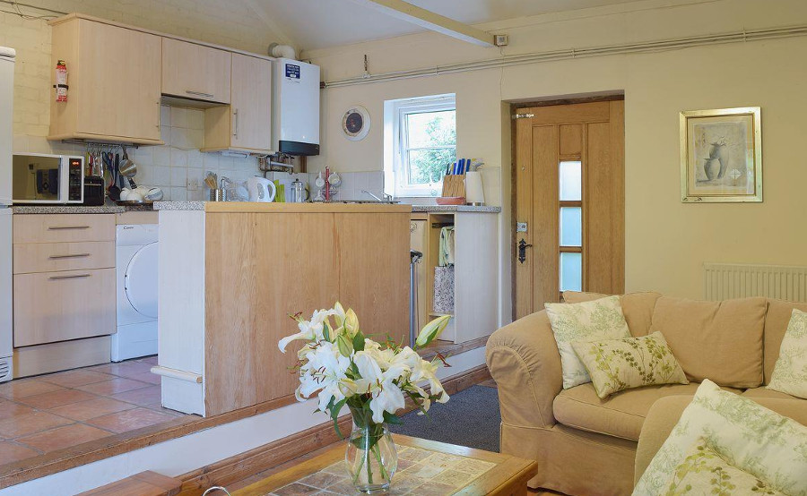 The living room and kitchen at Butter Pen near Bungay