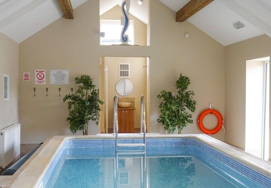 Holiday at Buttercups Haybarn and make the most of the indoor swimming pool