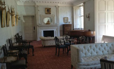 The drawing room at Bynack at Mar Lodge Estate