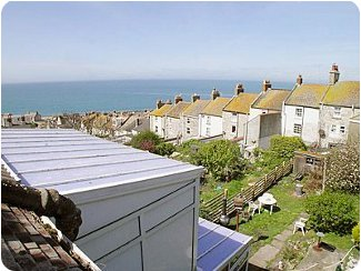 Views to the sea from Canute Cottage