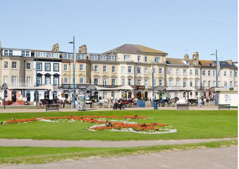 The promenade at Great Yarmouth, a very short walk from Clover Court