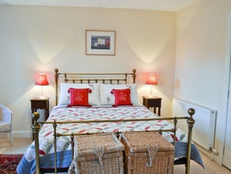 One of the bedrooms at Corbie Lynn in Pitlochry