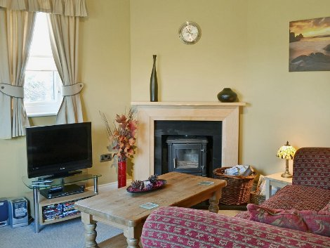 The living room at Craster Cottage in Beadnell