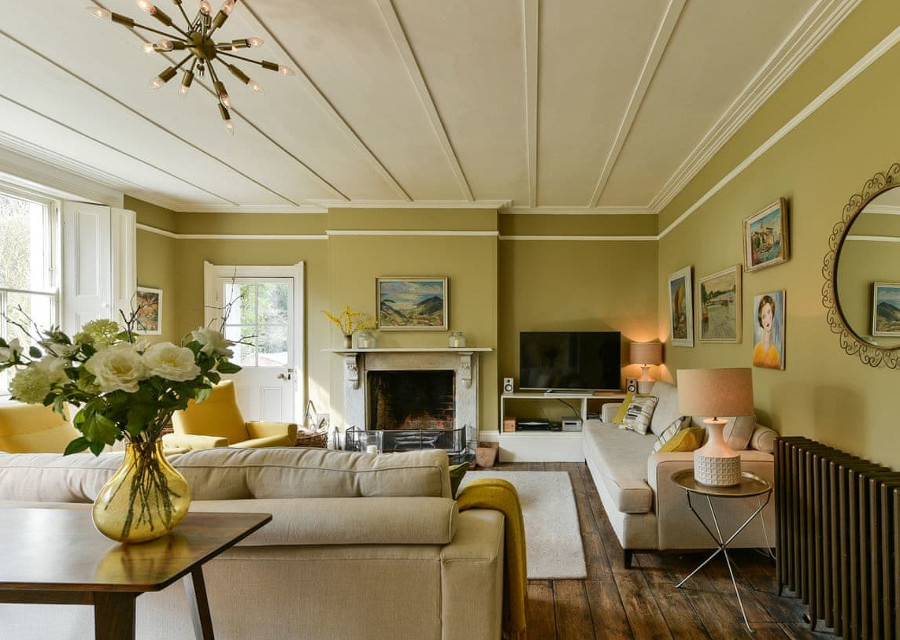 The living room at Dashwood House in Curdridge, Hampshire