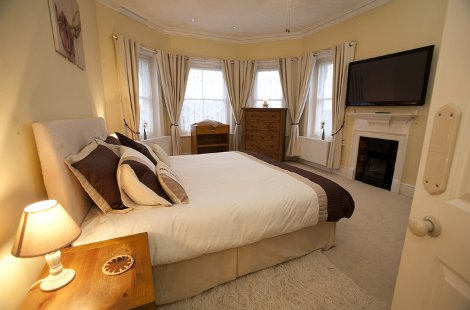 One of the bedrooms at Derrymore House in Shanklin, Isle of Wight