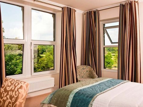 One of the bedrooms at Eden Lodge in Cumbria