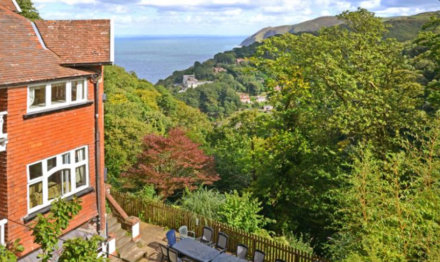 The garden and views at Forest Perch House in Lynmouth