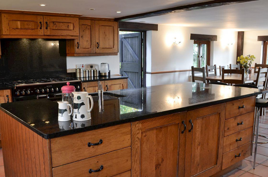 Kitchen and dining area of Four Seasons Barn near Torrington