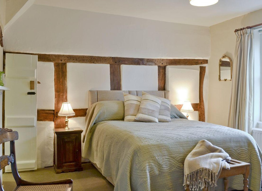 One of the three bedrooms at Friary Cottage in Ludlow