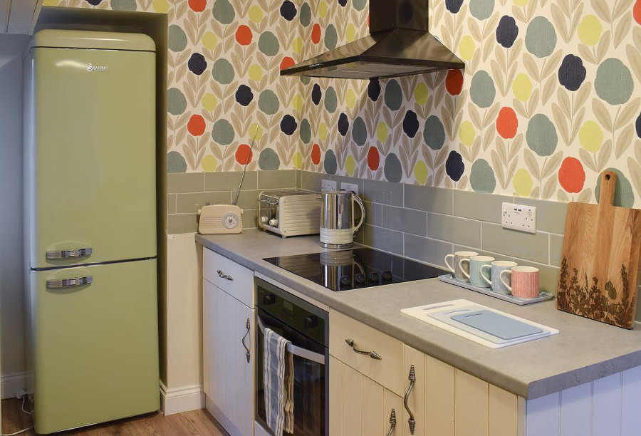 The kitchen at Gable End Cottage