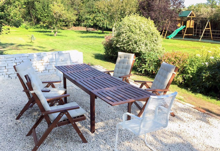 Greystones has a seating area and ½ acre of lawned garden