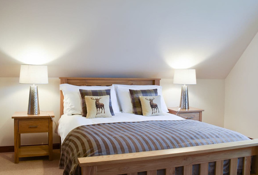 One of the three double bedrooms at Hawthorn House in Tomintoul