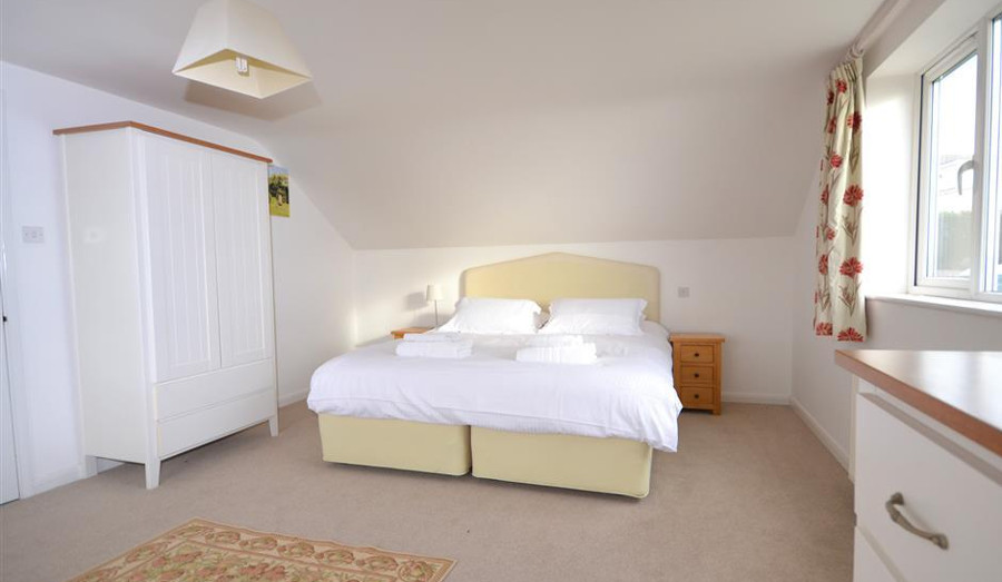 One of the five bedrooms at Heatherdale in Devon