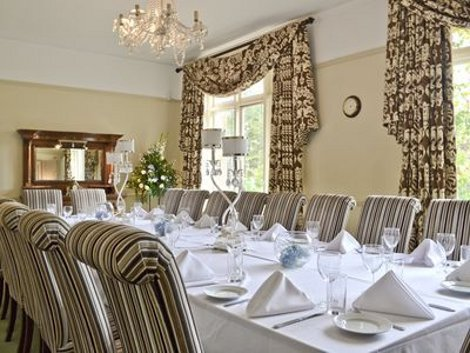 The dining room at Hermitage Country House