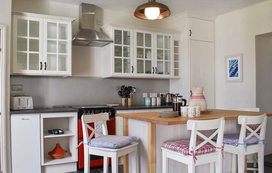 The modern kitchen at High Glencloy House on Isle of Arran