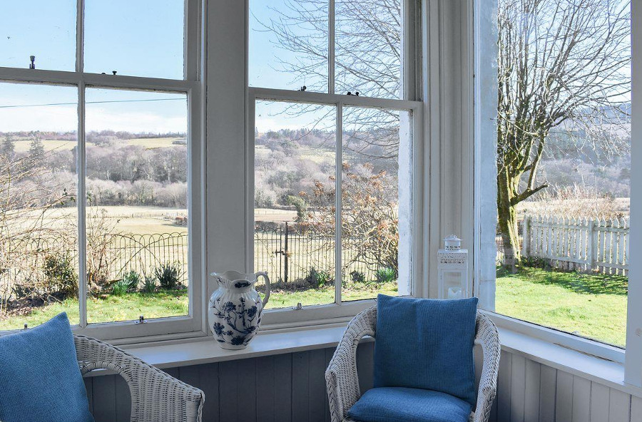 High Glencloy House has lovely views from both inside the cottage (as shown here) and from the garden