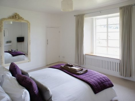 One of the bedrooms at Higher Westcott Farm