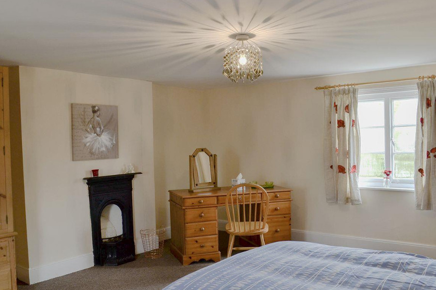 One of the bedrooms at Hill Farm in Leicestershire